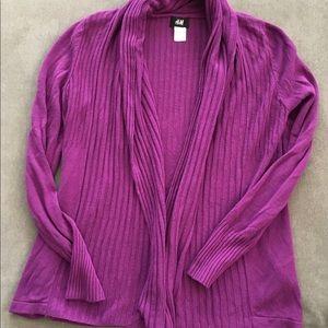H&M Purple Shawl Collar Cardigan